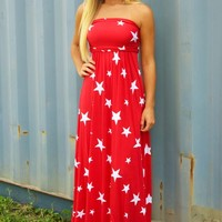 United We Stand Maxi Dress: Red/White - Maxi - Dresses - Hope's Boutique