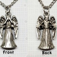 Weeping Angel Necklace, 3D double-sided inspired by Doctor Who