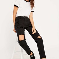 UNIF Romeo Black Jeans - Urban Outfitters