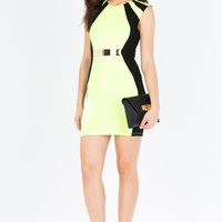 Optic Glow Contour Bodycon Dress