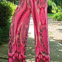 Every Which Way Palazzo Pants Pink