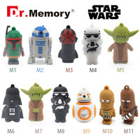 Usb flash drive Star wars 32gb usb stick 4gb pen drive 2016 Gift flash cards 8GB  16GB  USB 2.0 darth vader pendrive robert