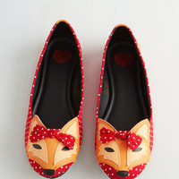 Kawaii Clever So Sweet Flat in Red