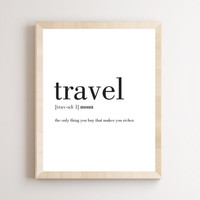 Printable Wall Art Prints, Instant Download Printable Art, Printable Quotes, Digital Print, Digital Download, Definition Print, Travel