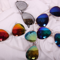 Reflective Aviator Sunnies