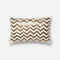Loloi Gold / White Decorative Throw Pillow (P0122)