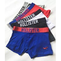 Hollister Popular Men Seagulls Print Cotton Underwear(6-Color)