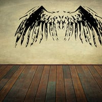 Angel Wings Wall Decal Set Wall Stickers Bird Wings Feathers Wall Art Decor