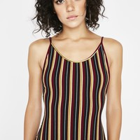 Get Into Trouble Striped Bodysuit