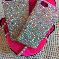 Handmade Bling sparkle diamond crystal Rhinestone iPhone 4 4s 5 5s 5c 6 6 plus case clear ab samsung galaxy s5 note 2 note 3 case cover