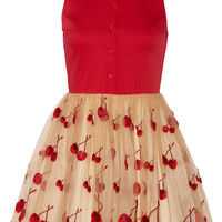 Alice + Olivia - Cherry Pouf cotton-blend and tulle dress