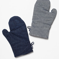 Free People Denim Oven Mitts