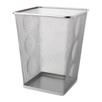 DOKUMENT Wastepaper basket, silver color - silver color - IKEA
