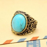 Vintage Style Turquoise Ring KQP121