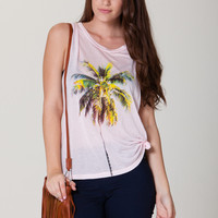 Palm Tree Graphic Muscle Tank