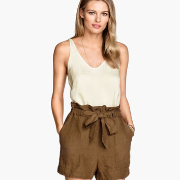 H&M Shorts with Tie Belt $24.95