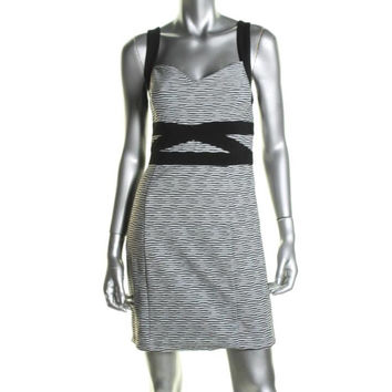 Guess Womens Valerie Striped Cut-Out Back Clubwear Dress