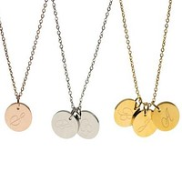Engraved Coin Necklace