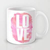 LOVE in watercolor Mug by Hello Monday