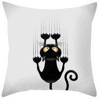 Gajjar 45*45 Cat Square Home Decoration Bedroom  Dropshipping support pillows for neck geometric