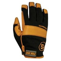 Firm Grip, Large Trade Master Mesh-Net Fabric and Leather Work Gloves, 2003L at The Home Depot - Mobile