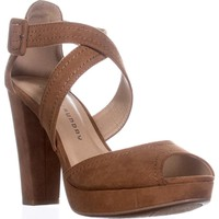 Chinese Laundry All Access Platform Cross Strap Sandals, Cocoa, 8.5 US / 39 EU