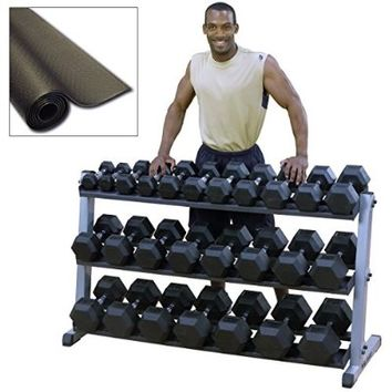 Heavy Duty Dumbbell Set with Rack 5-70 lbs Pairs
