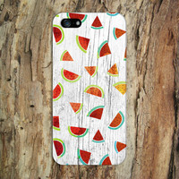 Watercolor Watermelon x White Wood Design Phone Case for iPhone 6 6 Plus iPhone 5 5s 5c iPhone 4 4s Samsung Galaxy s6 s5 s4 & s3 and Note 4