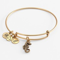 Women's Alex and Ani Seahorse Expandable Wire Bangle