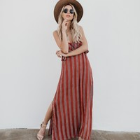 Bicoastal Striped Adjustable Maxi Dress