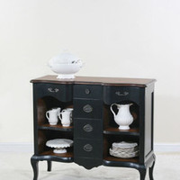 Ultimate Accents  Black Seville Open Sideboard