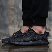 Tagre™ Adidas Women Yeezy Boost Sneakers Running Sports Shoes Full Black