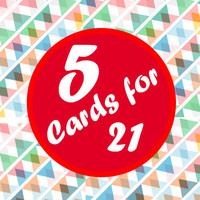 Special - 5 Cards for 21 - In Living Color Studios (Birthday Card. Anniversary Cards. Valentines Cards. Engagement Cards. Mothers Day Cards)
