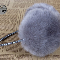 Faux Fur Ear Muff with Beaded Band