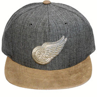 Detroit Red Wings Vintage Heather Suede 2-Tone Strapback