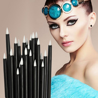 100Pc Cosmetic Makeup Tool Disposable Eyeliner Liquid Wand Applicator Brush