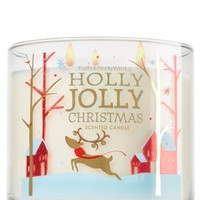 3-Wick Candle Holly Jolly Christmas