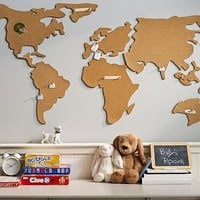 World Map Corkboard | Pottery Barn Kids