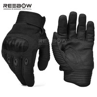 Army Military Hard Knuckle Tactical Combat Gloves Motorcycle Motorbike ATV Riding Full Finger Gloves for Men Airsoft Sport Biker