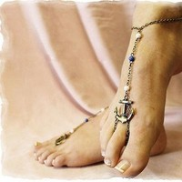 Fashion Women Anchor Beads Ankle Bracelet Anklet Barefoot Beach Foot Chain = 5658251201