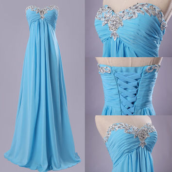 Long Formal Evening Gown Wedding Prom Dress Bridesmaid Party Graduation Dresses