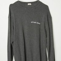 ERICA UH HUH HONEY EMBROIDERY SWEATSHIRT