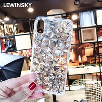 3D Diamond Soft Silicone Case for Samsung Galaxy A8 A6 J8 J2 Pro S8 S9 Plus S7 Edge J3 J5 J7 Prime 2017 2018 Note 8 9 Cover T15