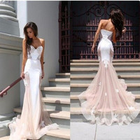 Comfortable Bralette Hot Women's Fashion Lace Mermaid Luxury Slim Backless Sexy Ball Gown Bra [9324511812]