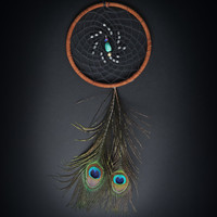 Peacock Feather Turquoise Dream Catcher