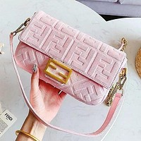 FENDI Bag Women Shopping Shoulder Bag Velvet Multi-color Optional Handbag Satchel Crossbody Shoulder Bag