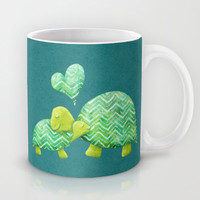 Turtle Hugs Mug by Elephant Trunk Studio | Society6