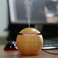 FEA Wood grain Aromatherapy Essential Oil Diffuser LED Lights Ultrasonic Cool Mist Aroma Air Humidifier for Office Baby Bedroom