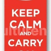 Keep Calm And Carry On Poster 12 x 36in