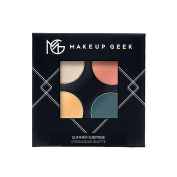 Makeup Geek Eyeshadow Palette Four Full Size Pans Summer Surprise Peach/Blue